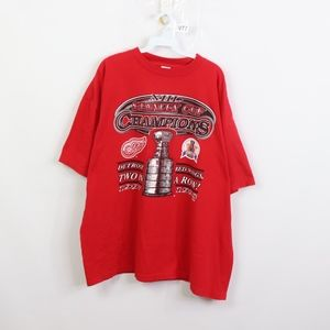 90s Mens 3XL Detroit Red Wings Stanley Cup T Shirt